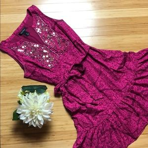 WHBM Pink Embellished Dress Size Small